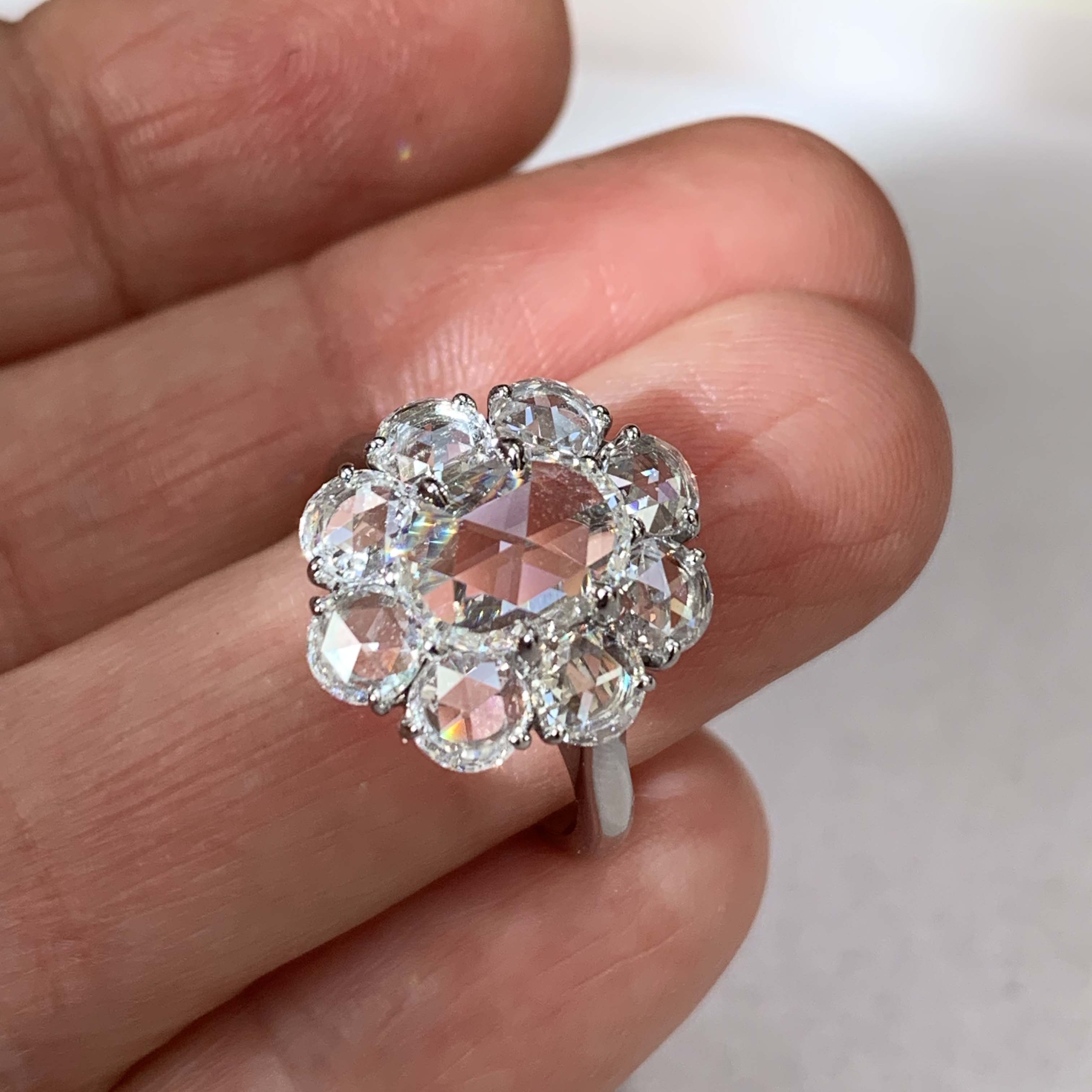 Rose cut diamond engagement ring from Bayco