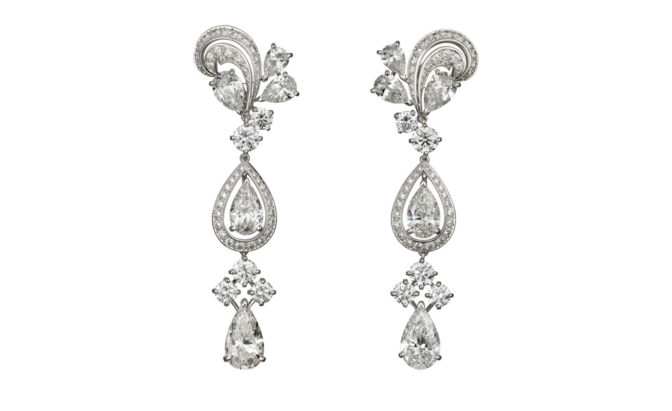 Cartier platinum and diamond pendant earrings by cartier mozeypictures Image collections