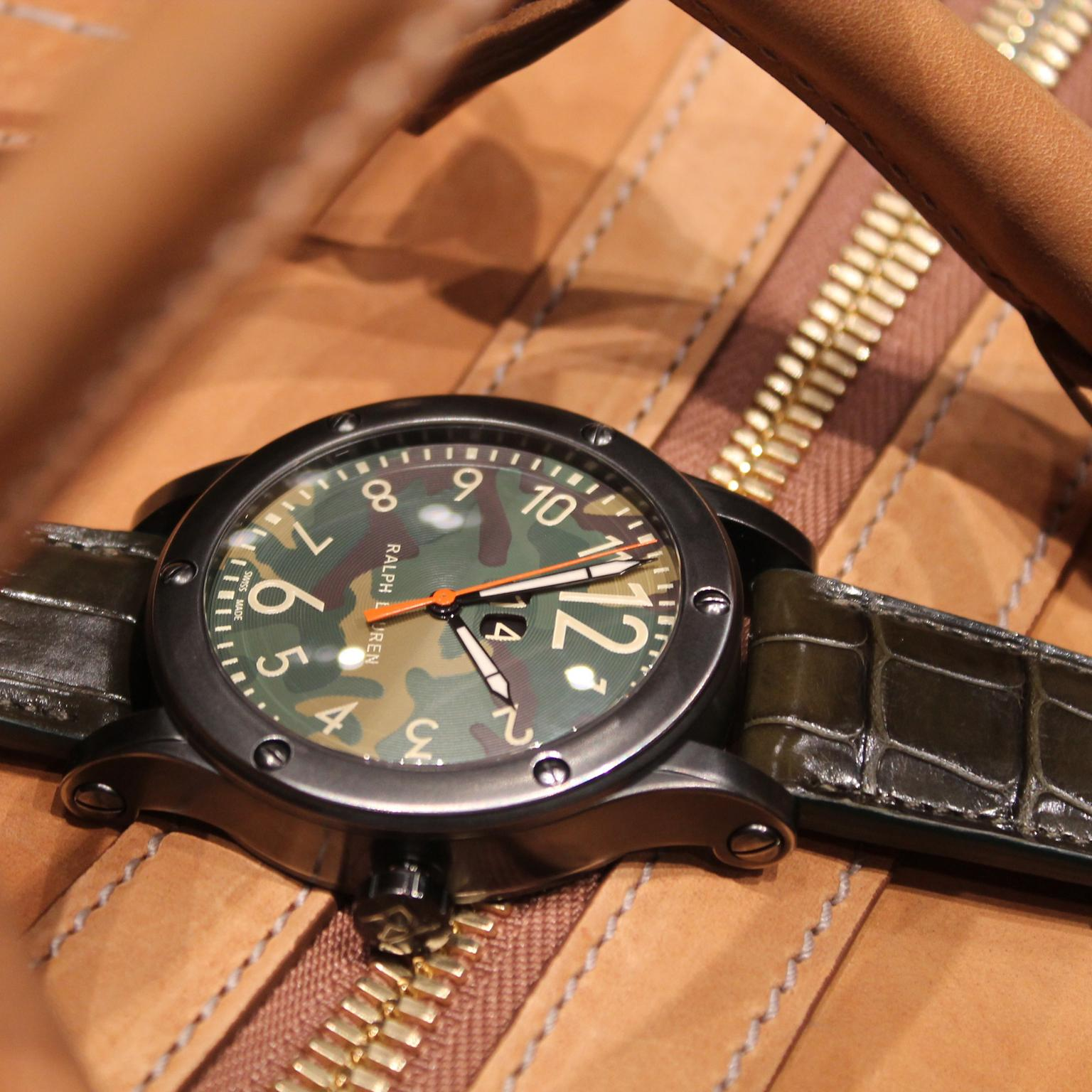 Ralph Lauren RL67 Safari Grand Date watch with camouflage dial