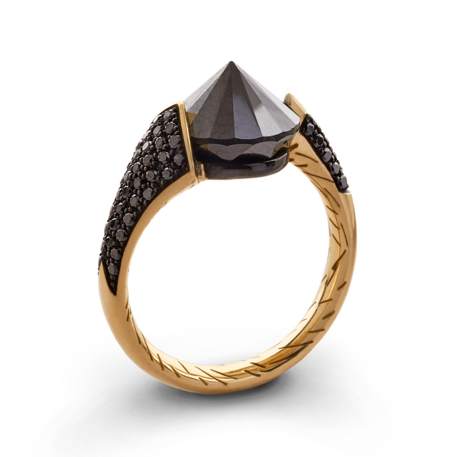 Bear Brooksbank black diamond Bear Claw ring