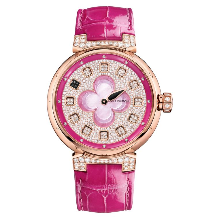 Louis Vuitton Spin Time watch in pink