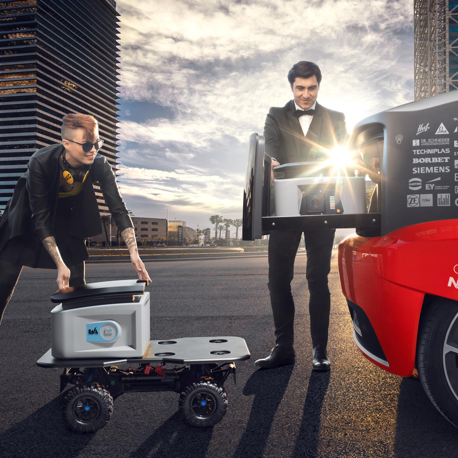 Oasis Rinspeed concept car battery