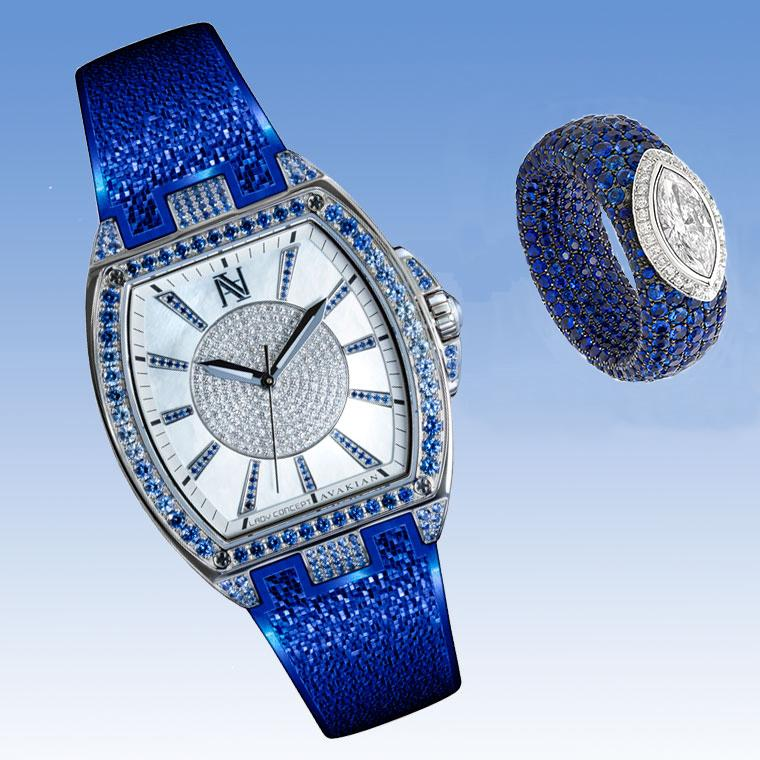 Avakian Lady Concept watch with blue sapphires