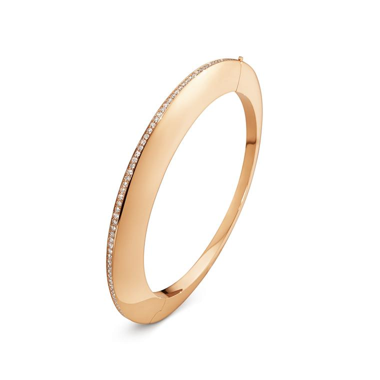 Georg Jensen Dune bangle with cinnamon diamonds