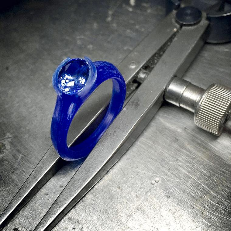 McCaul Goldsmiths wax for sapphire engagement ring
