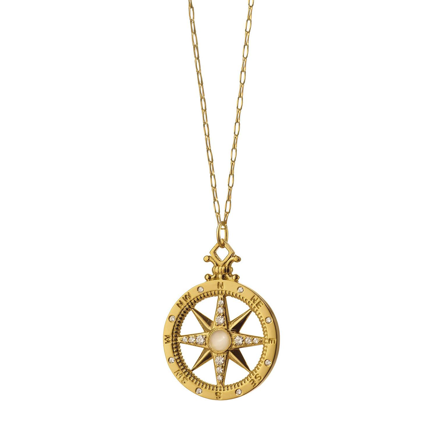 Monica Rich Kosann Compass Charm necklace