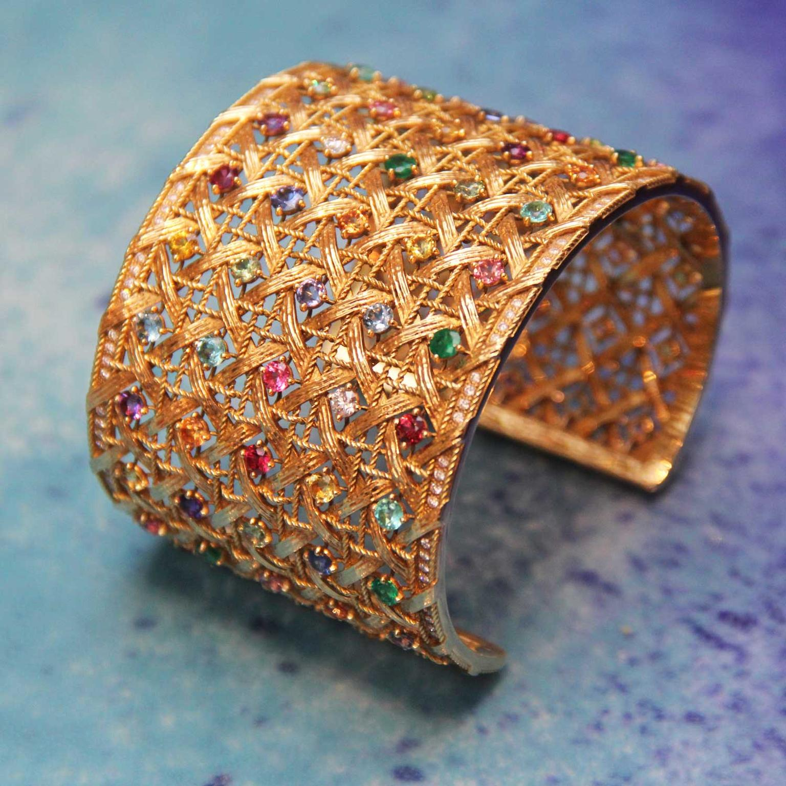 My Dior Cuff bracelet with multi-coloured stones