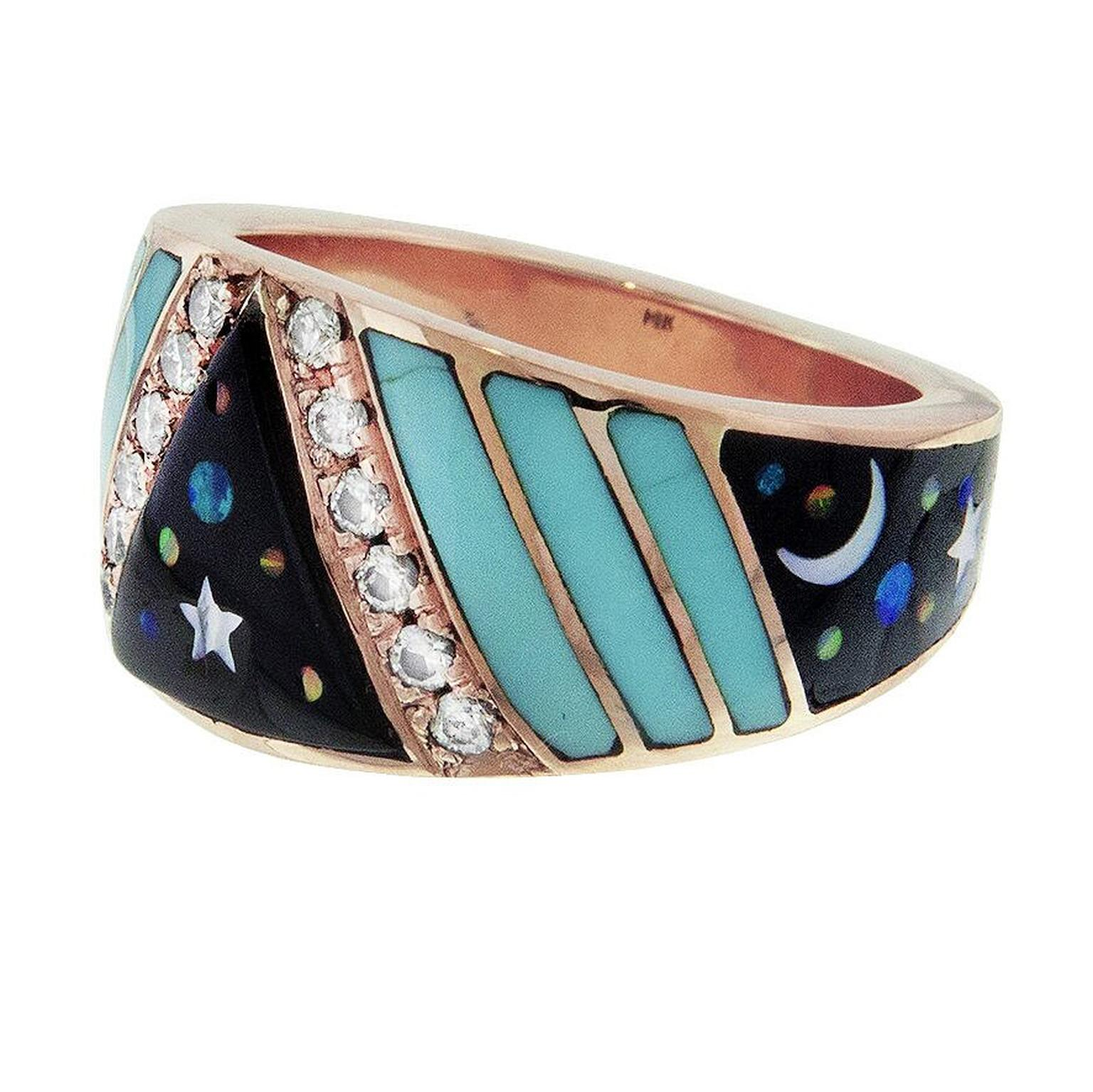 Galaxy opal ring by Jacquie Aiche