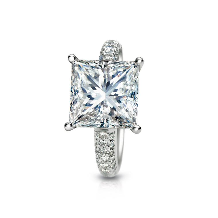 SRW Evermore 2.52ct princess-cut engagement ring