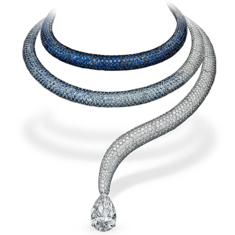 de Grisogono sapphire and diamond high jewellery necklace