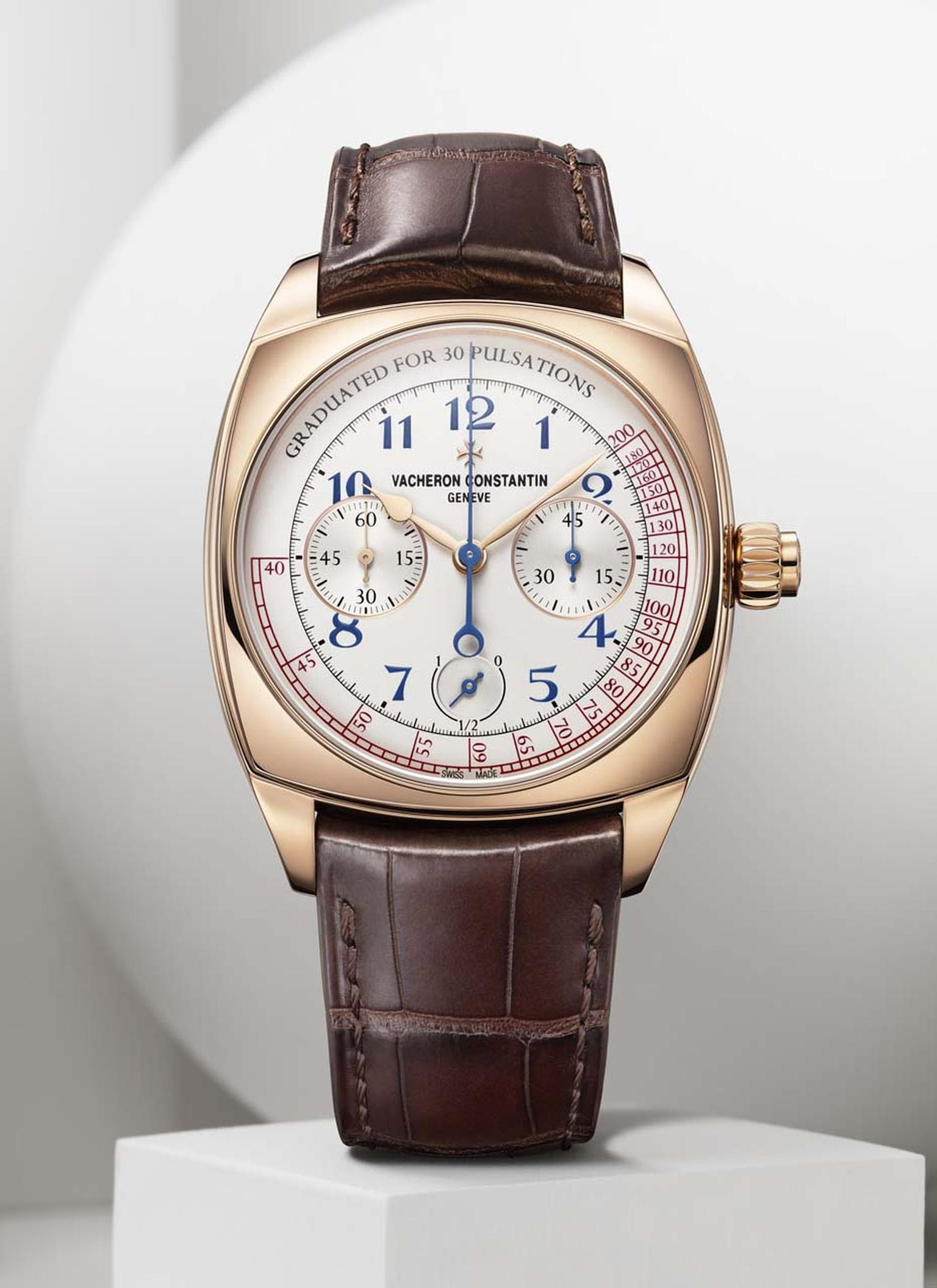The Vacheron Constantin Harmony Chronograph calibre 3300 is a contemporary incarnation of a 1928 Vacheron doctor's watch. The new Harmony collection was presented in 2015 to celebrate the Maison's 260th anniversary.