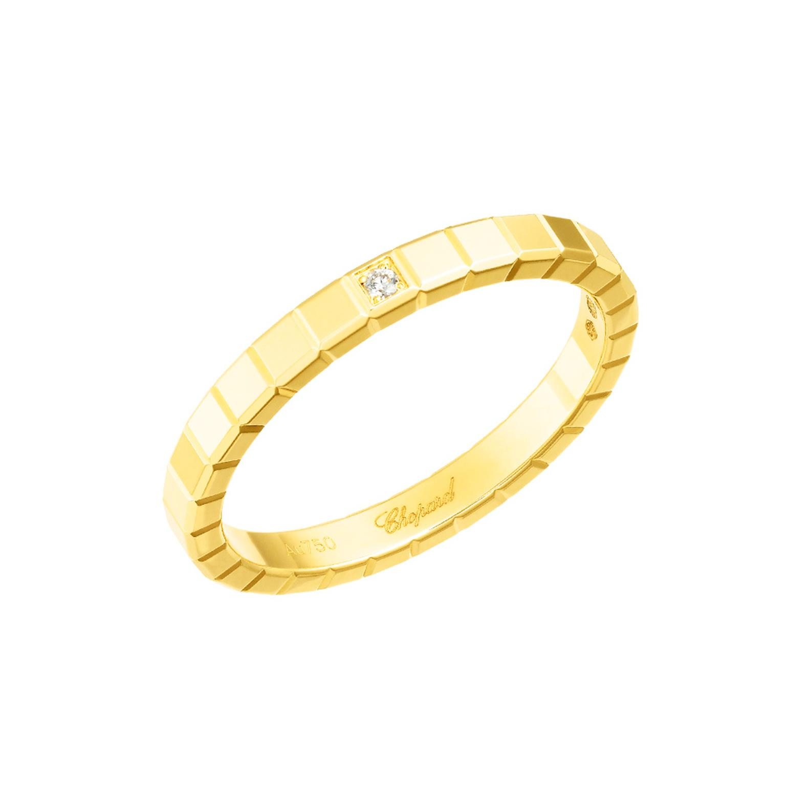 Chopard yellow gold Ice Cube ring