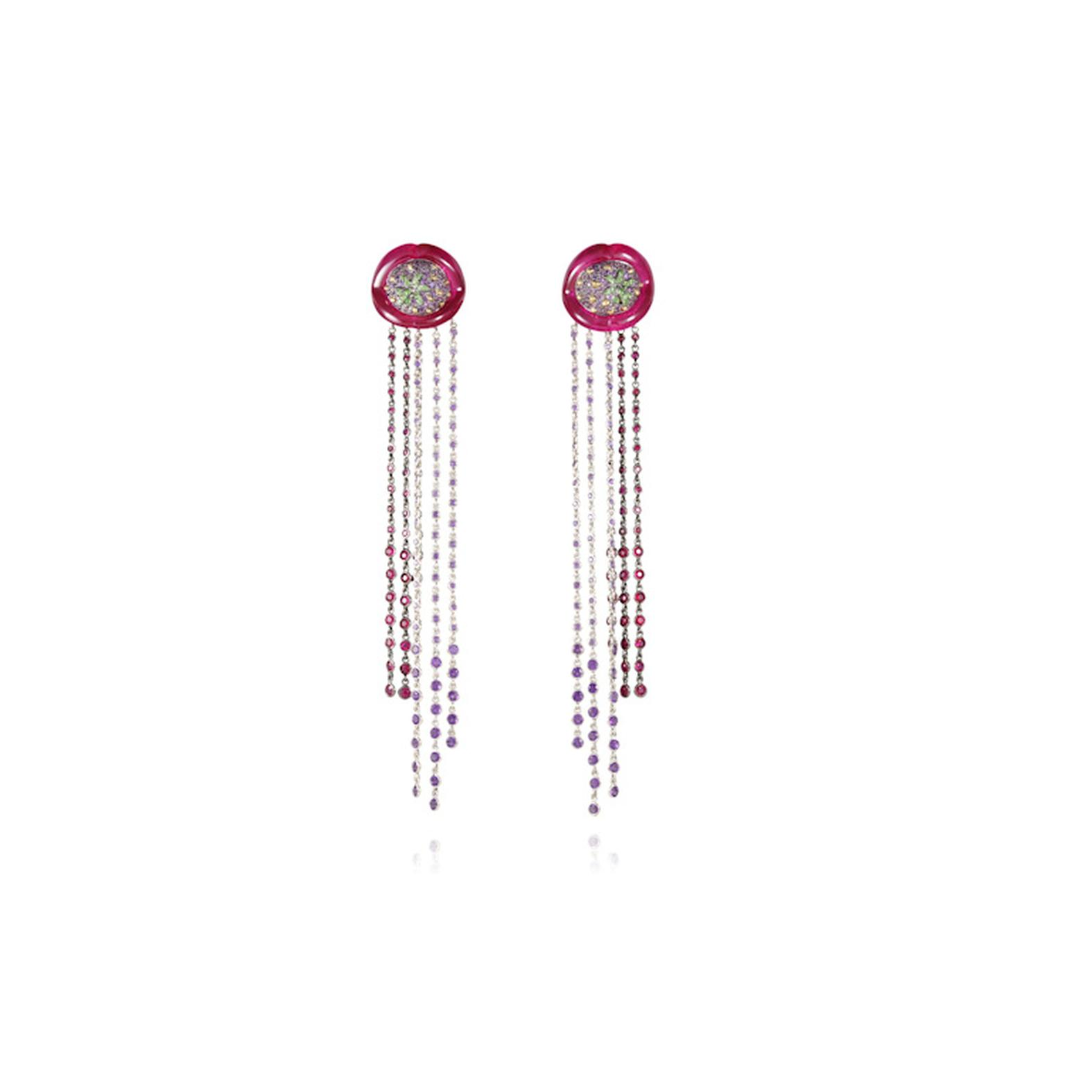 Lydia Courteille fringe earrings