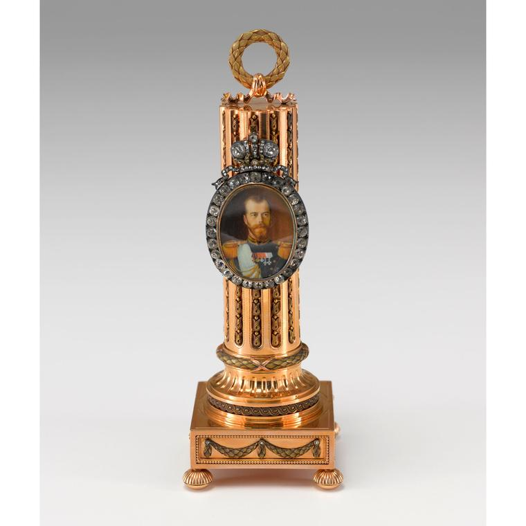 Faberge Imperial column portrait frame