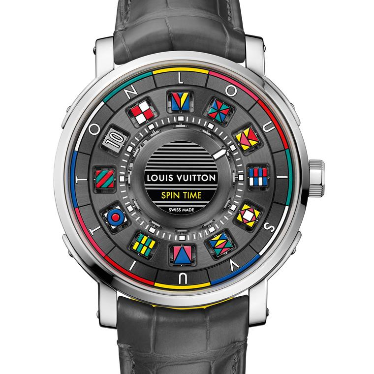 Louis Vuitton Escale Spin Time watch in white gold