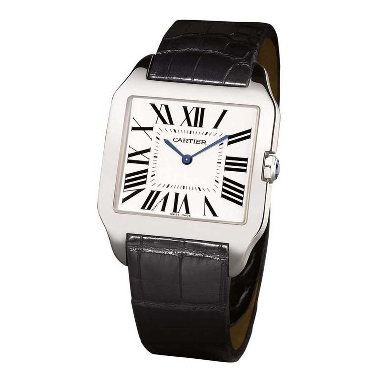 Cartier Santos-Dumont watch in white gold