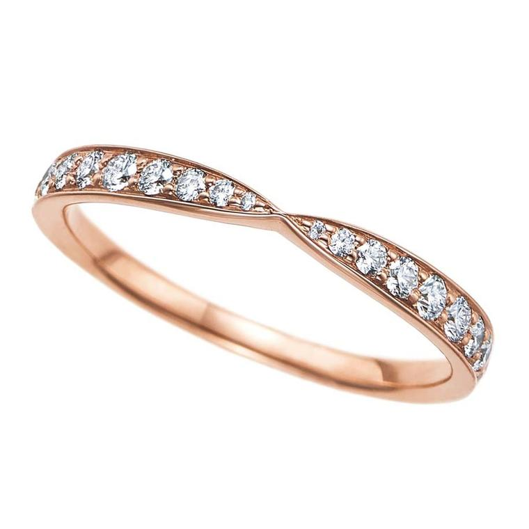rose gold engagement rings tiffany diamond rose gold
