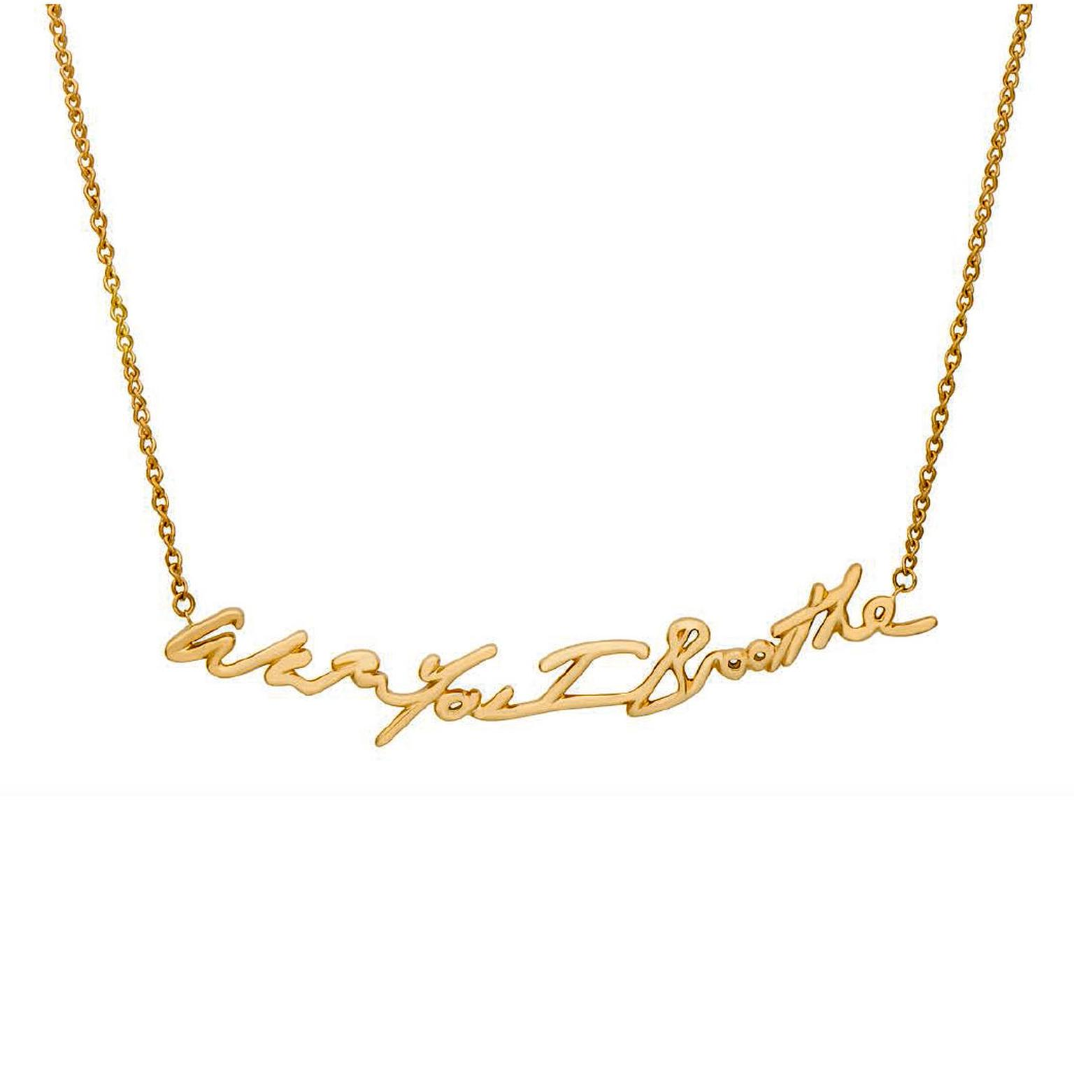 Tracey Emin With You I Breathe necklace