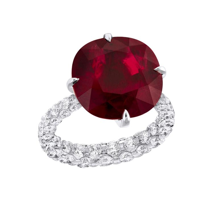 Les Merveilles ruby and diamond ring