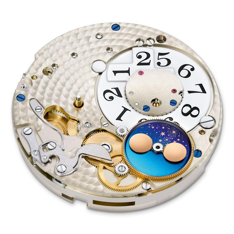 A Lange & Sohne movement with moon phases