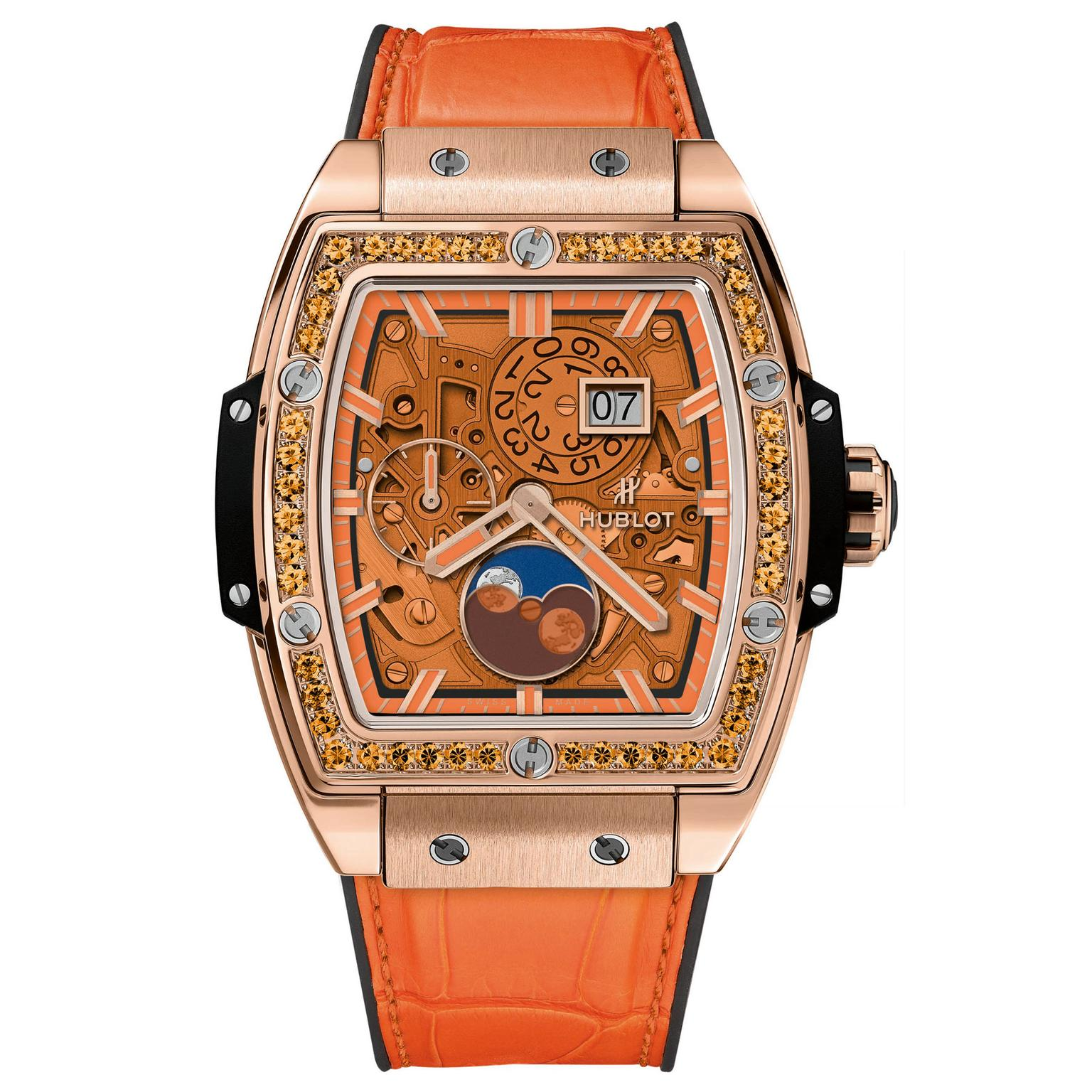 Hublot Spirit of Big Bang Moonphase King Gold Orange