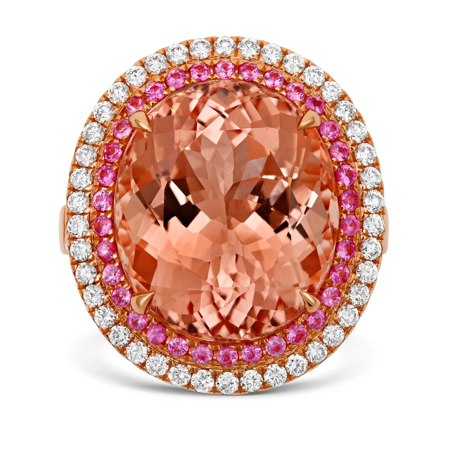 Tivon morganite ring