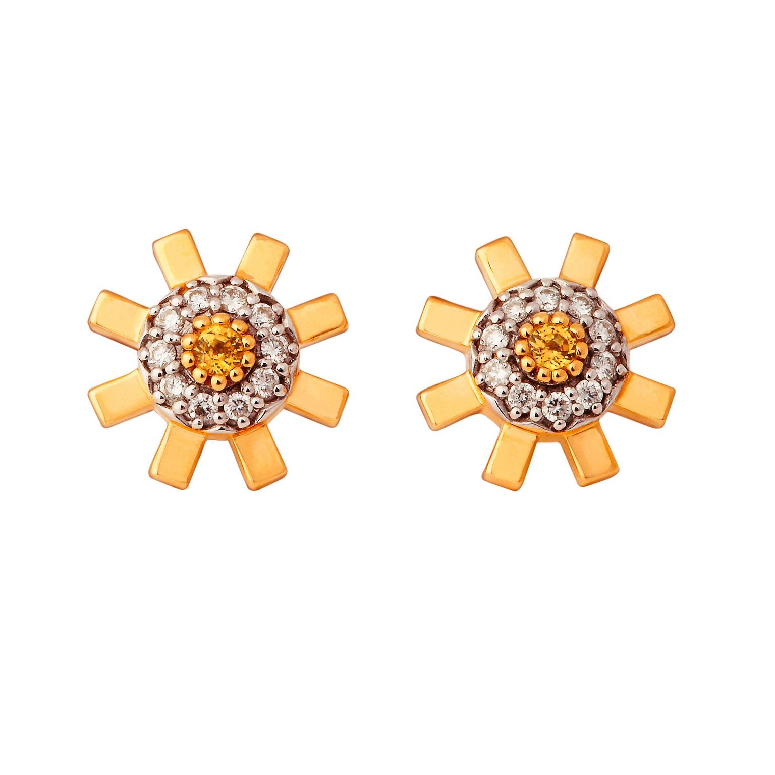 gold jewellers yellow sapphire stud white collections earrings oval elizabeth ceylon