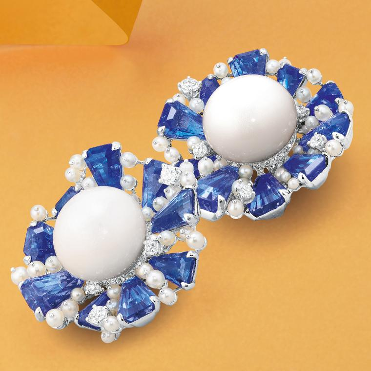 Lot 559:  Earrings from Karen Suen presented at Phillips Live Auction on 8 July 2020