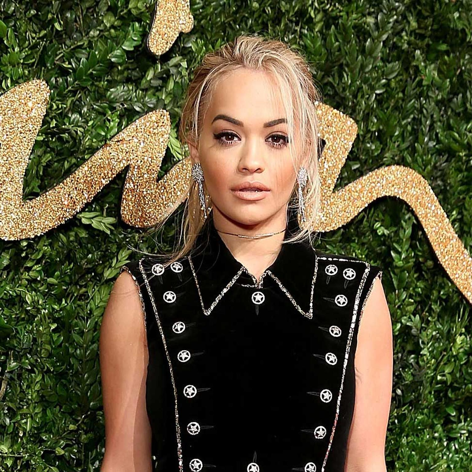 Rita Ora at the British Fashion Awards in Chanel diamond jewellery
