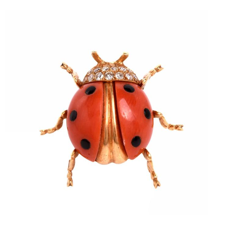 Dover Jewelry ladybug Tiffany lapel brooch