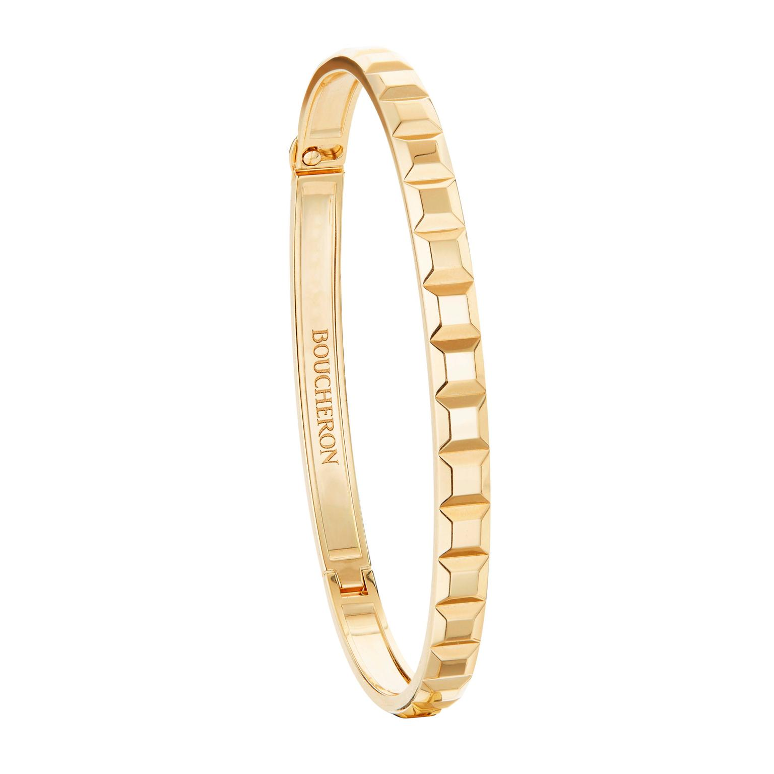 Boucheron Clou de Paris bangle in yellow gold