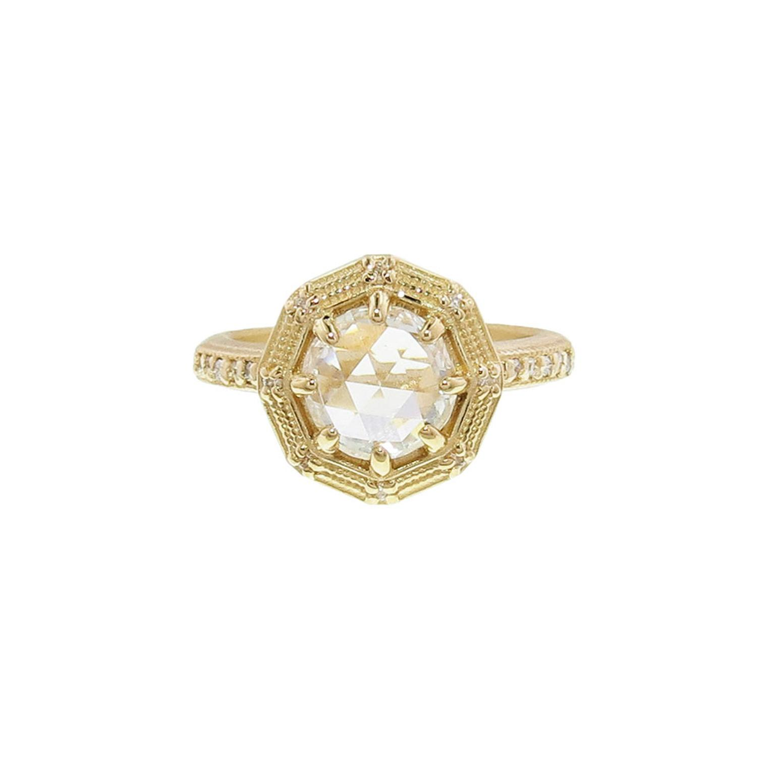 Megan Thorne bezel-cut diamond ring