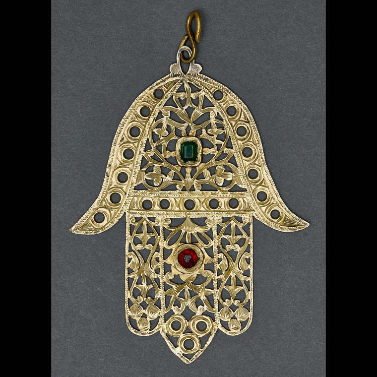 Hamsa Amulet in silver , Fez, Morocco, c.1930, from the Gross Family Collection