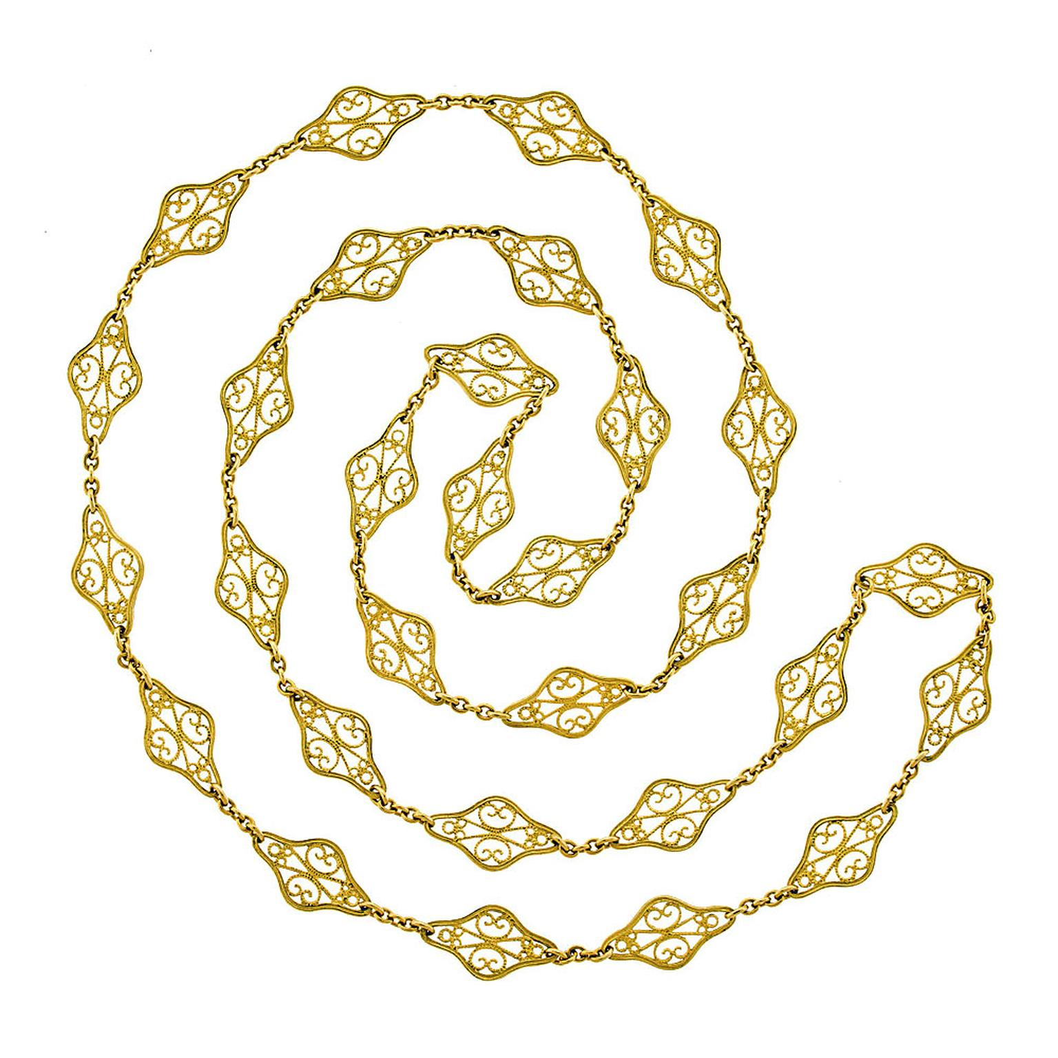 Lawrence Jeffrey Estate Jewellers Filigree chain