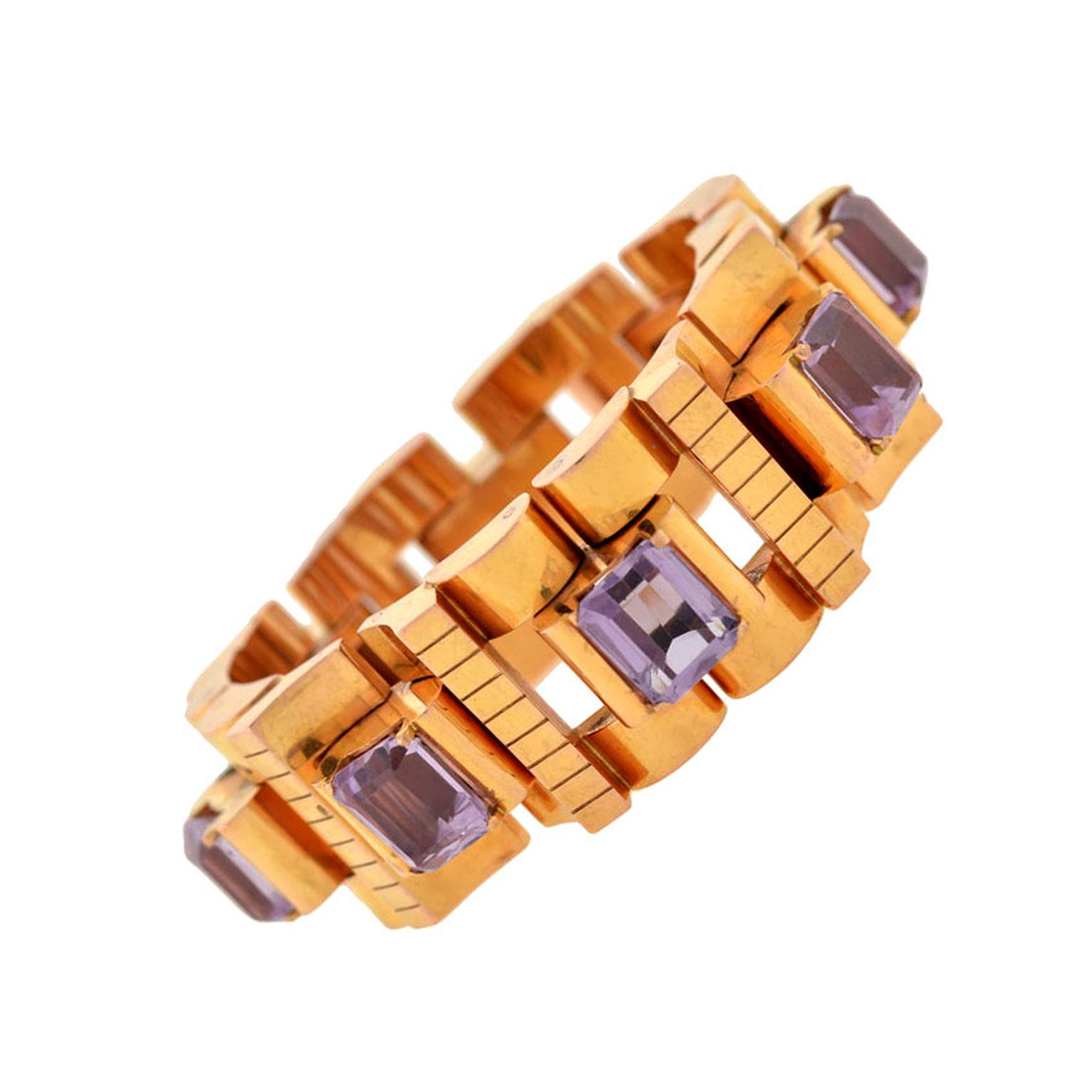 A. Brandt & Son retro bracelet rosy yellow gold