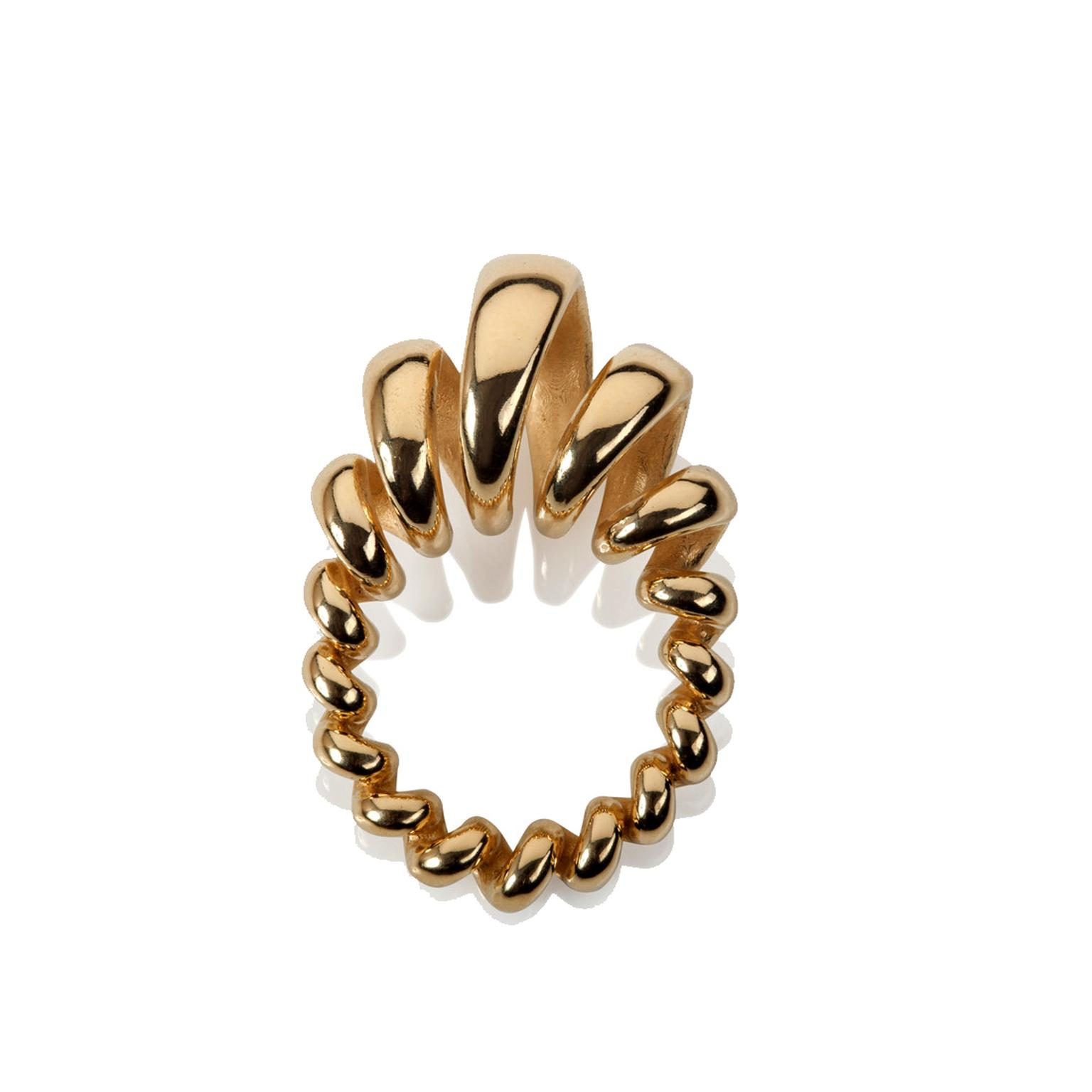 Sarah Herriot Spiral yellow gold ring