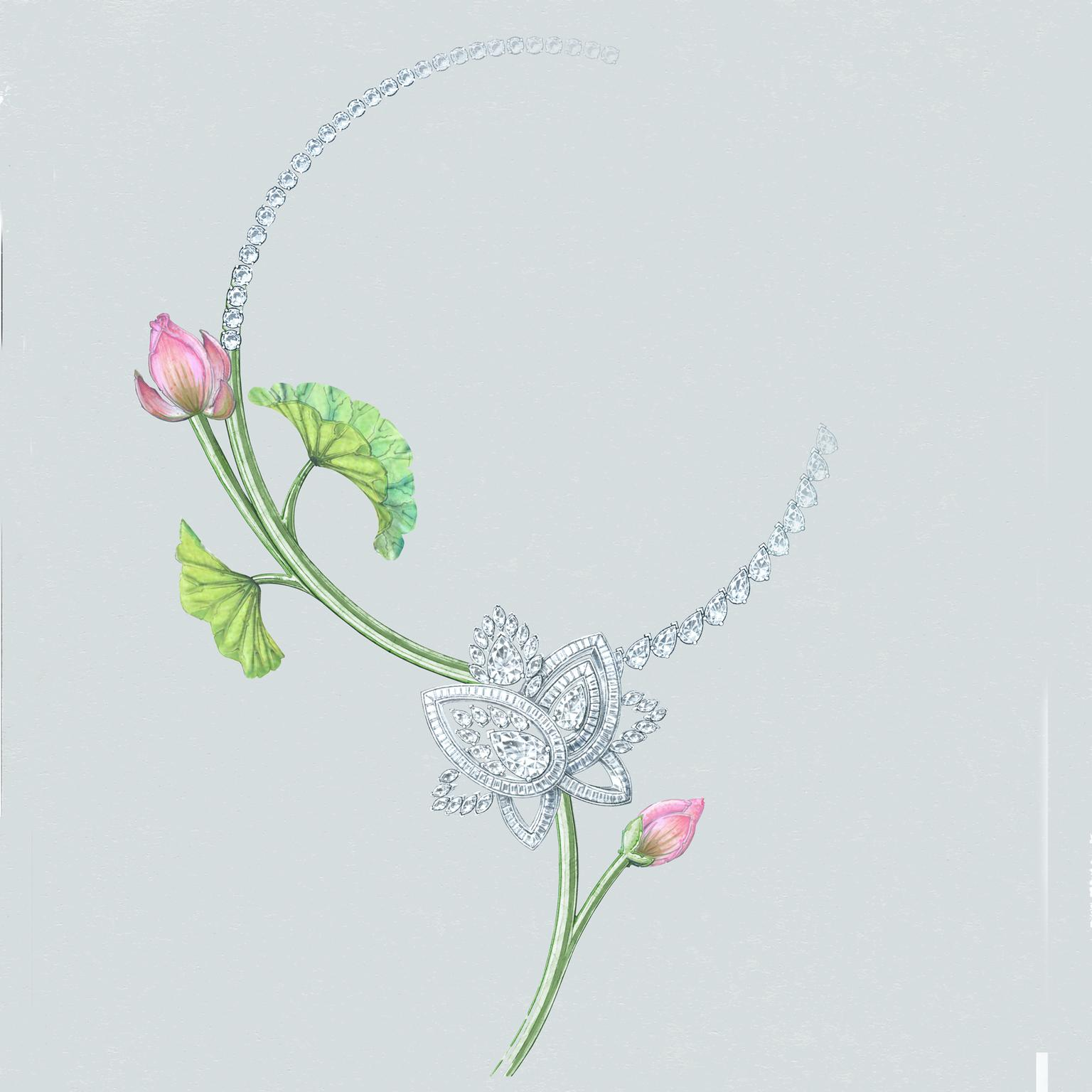 De Beers Blooming Lotus necklace