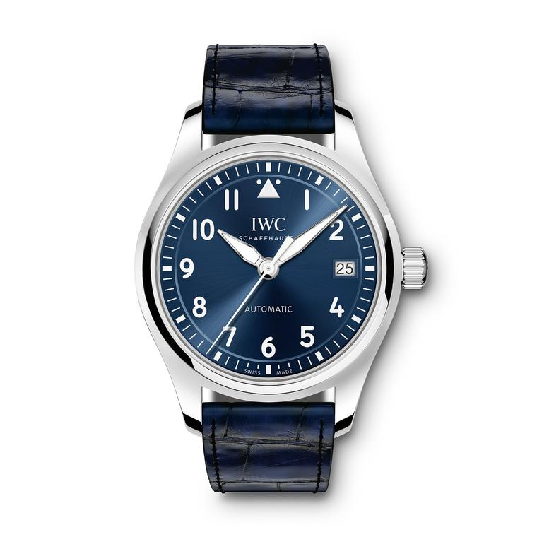 IWC Pilot's 36mm blue dial watch