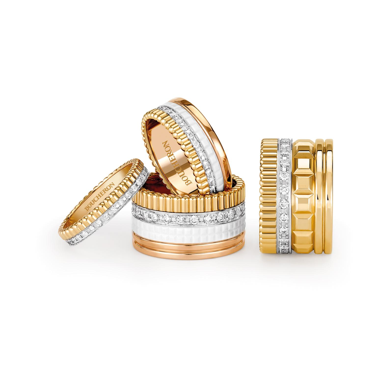 Boucheron Quatre Radiant and White Edition Rings