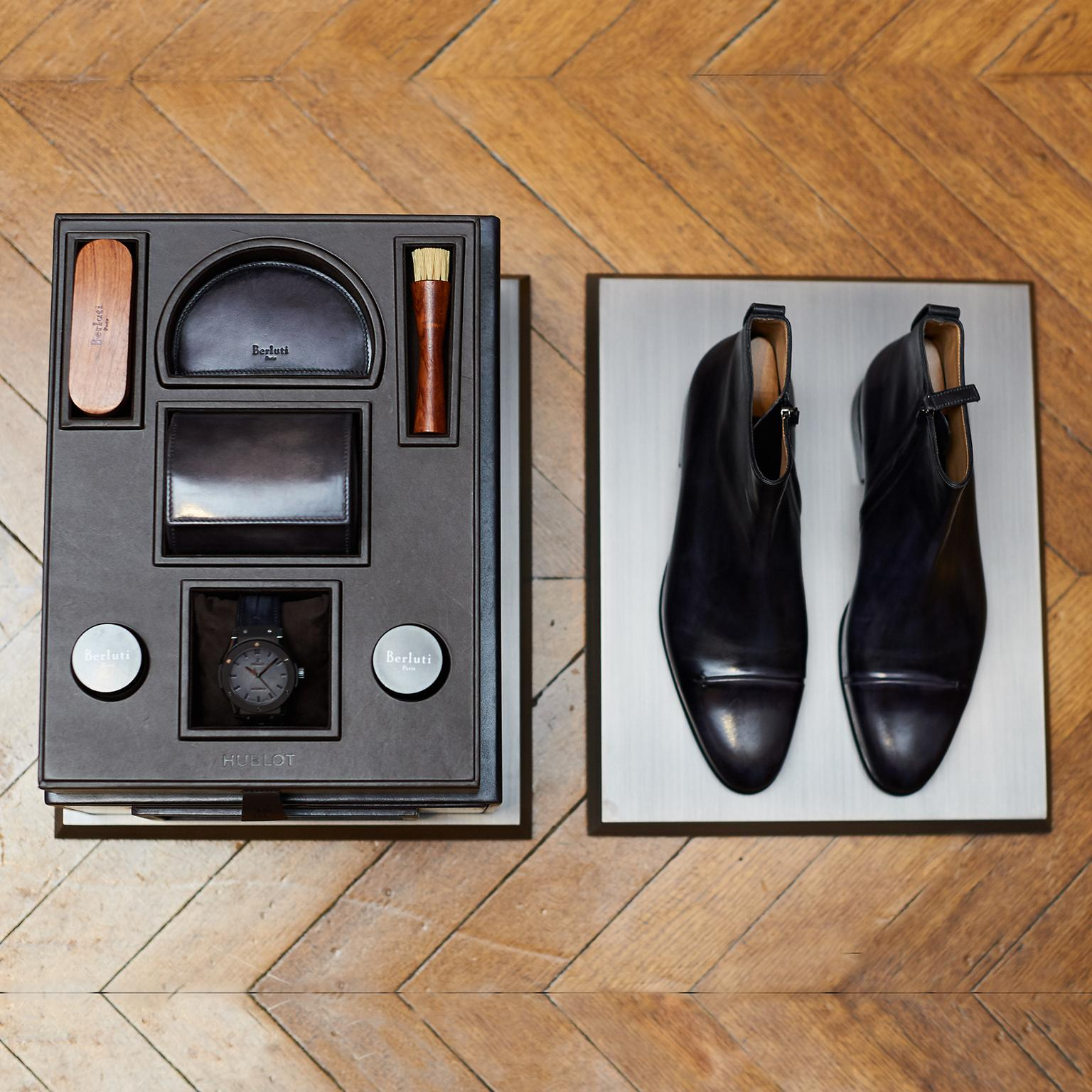Hublot's fusion with shoemaker Berluti