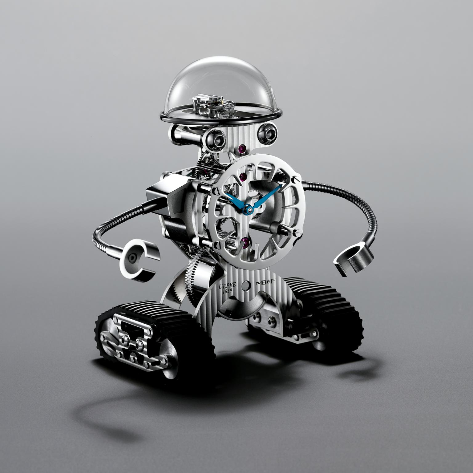 MB&F Sherman robot table clock