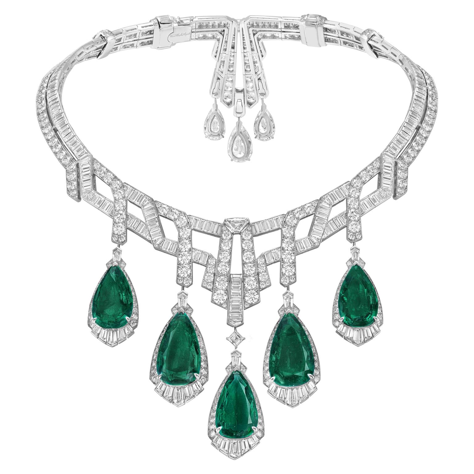 Van Cleef & Arpels Merveilles d'émeraudes necklace with detachable pendants