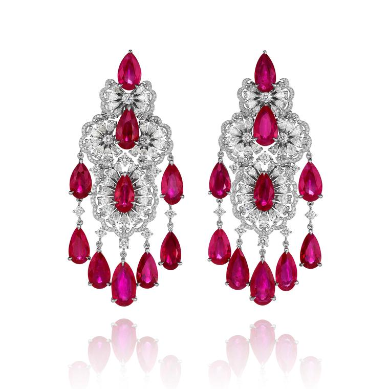 Chopard Red Carpet collection ruby and diamond earrings