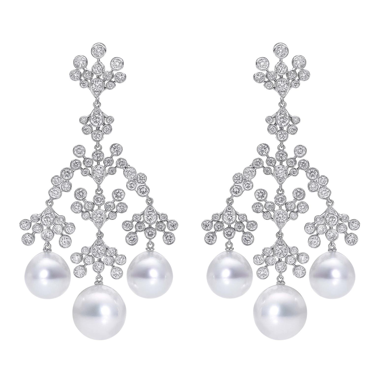 The Chandeliers earrings with diamonds from No. THIRTY THREE