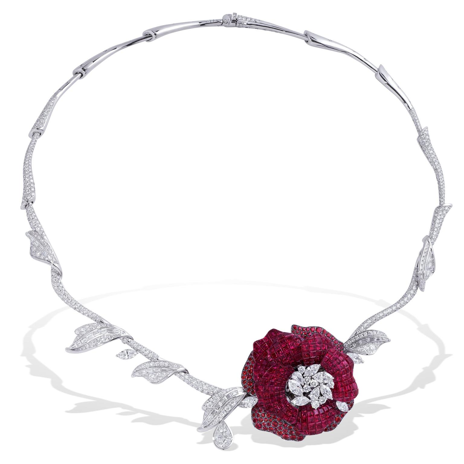 Stenzhorn Rose Red ruby high jewellery necklace