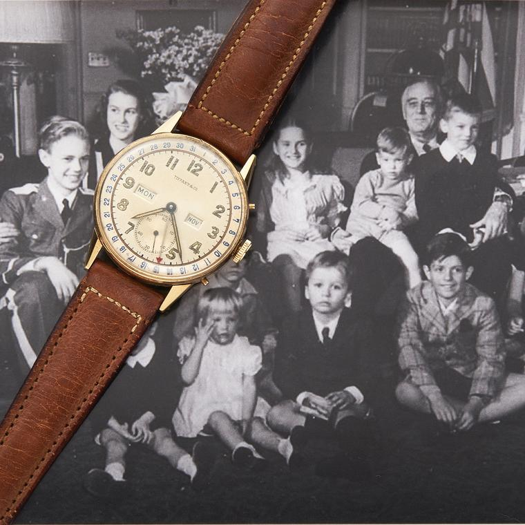 Tiffany timepiece gifted to Franklin D Roosevelt in 1945