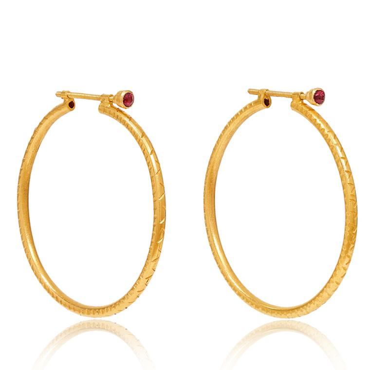 MYANMAR AAWINE LARGE HOOP EARRINGS from Pippa Small