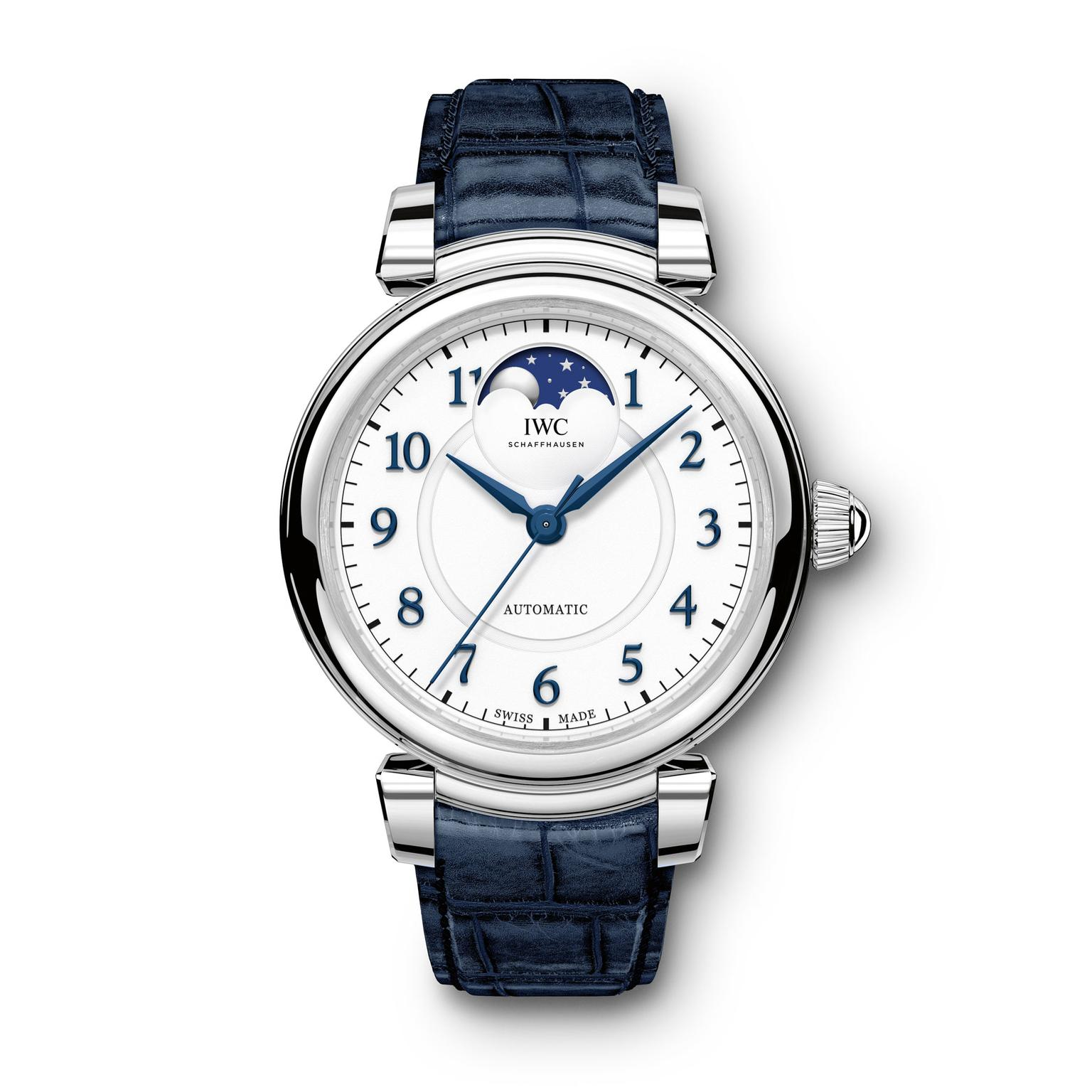 IWC Da Vinci Moon phase steel watch for women