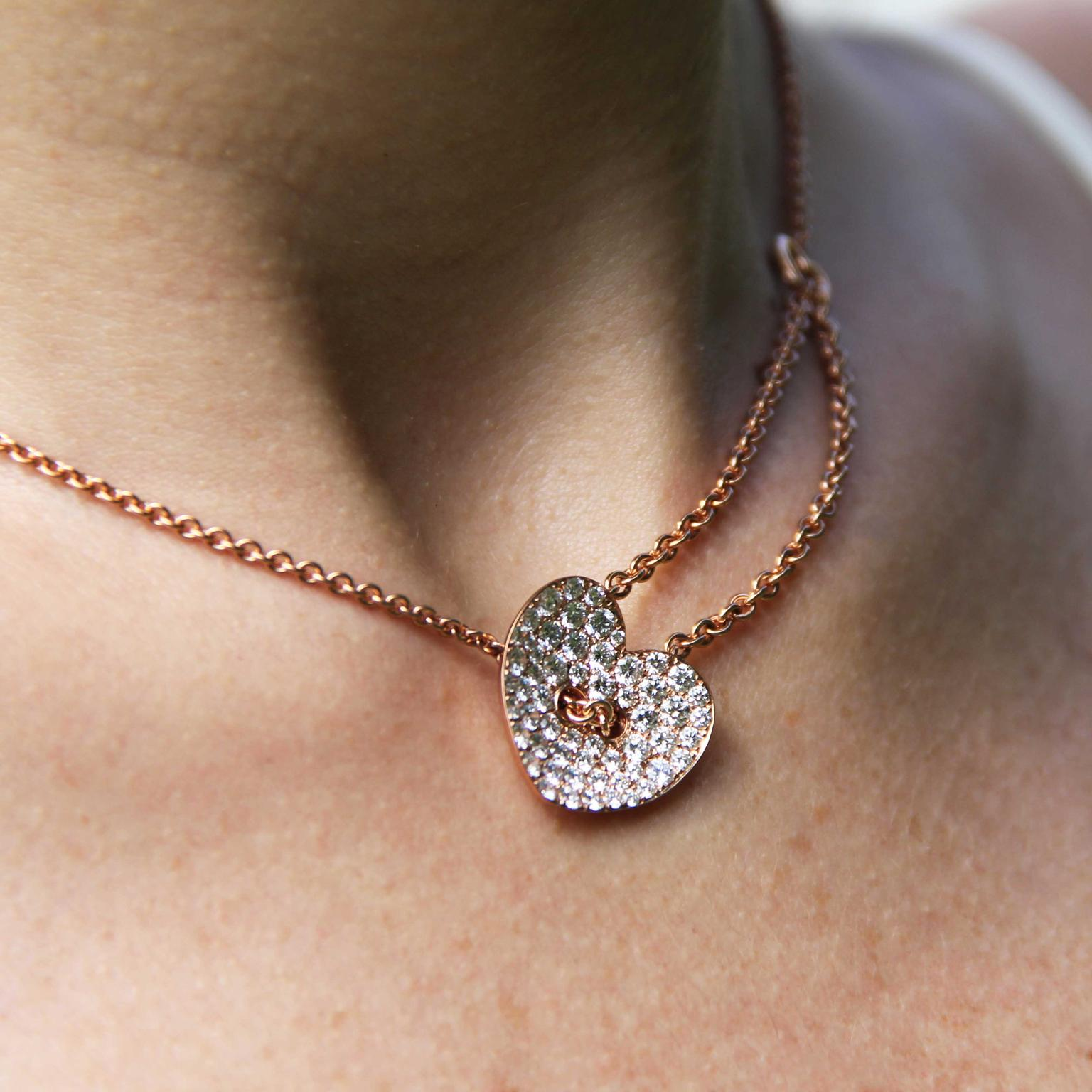 Stenzhorn Chain my Heart diamond and gold necklace