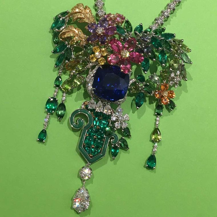 Dior Cote Jardins gemstone high jewellery brooch